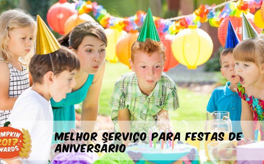 """Pumpkin awards 2017 para """"Melhor Festas de Aniversário para Crianças"""""""