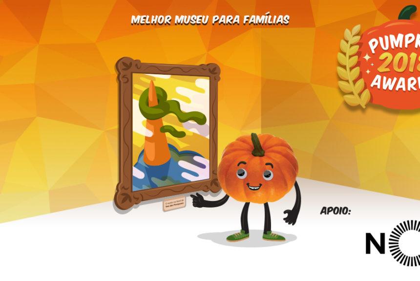 """Pumpkin awards 2018 para """"Melhor Museu para famílias"""""""