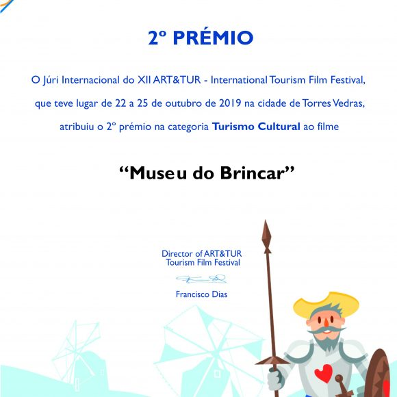"FILME PROMOCIONAL DO MUSEU DO BRINCAR VENCE 2º PRÉMIO NO ""INTERNATIONAL TOURISM FILM FESTIVAL"""